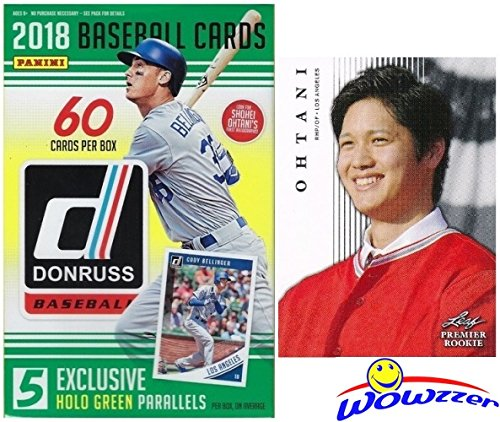 2018 Donruss Baseball HUGE Factory Sealed HANGER Box with 60 Cards & HOLO GREEN PARALLELS Plus BONUS Shohei Ohtani ROOKIE Card! Look for Autographs of Ohtani, Aaron Judge, Derek Jeter & More! WOWZZER!