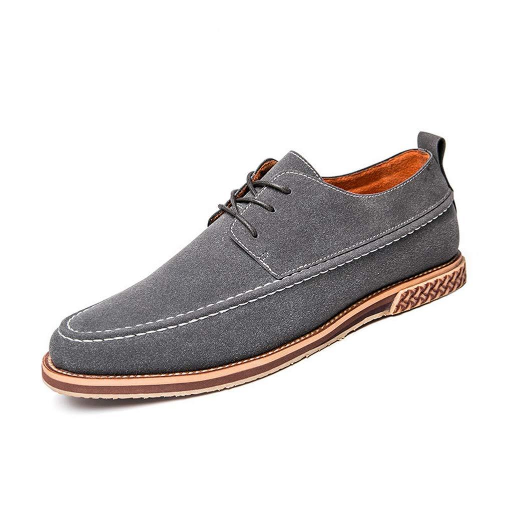 Starttwin Formal Shoes Men Fashion Male Dress Footwear Office Work Suede Oxford Shoes