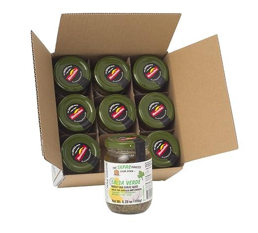 Las Tapas salsas Salsa Verde (Parsley y salsa de ajo) Pack ...
