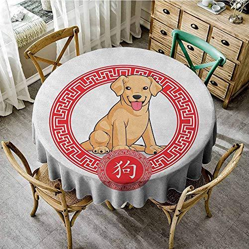 Rank-T Vintage Round Tablecloth 63