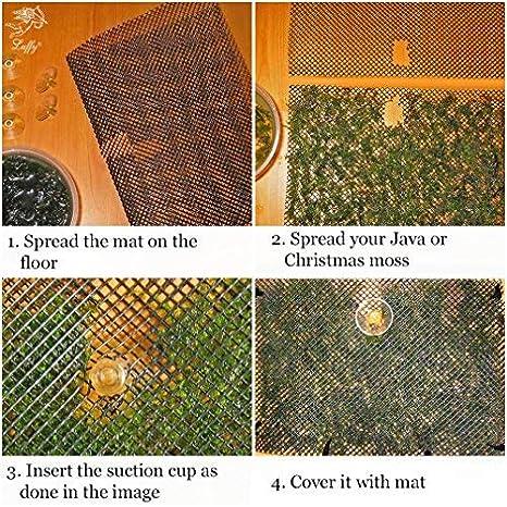 Panel de malla para el musgo de una pecera (plantas no incluidas)Incluye 2 paneles de malla, 10 bridas y 5 ventosas.: Amazon.es: Hogar