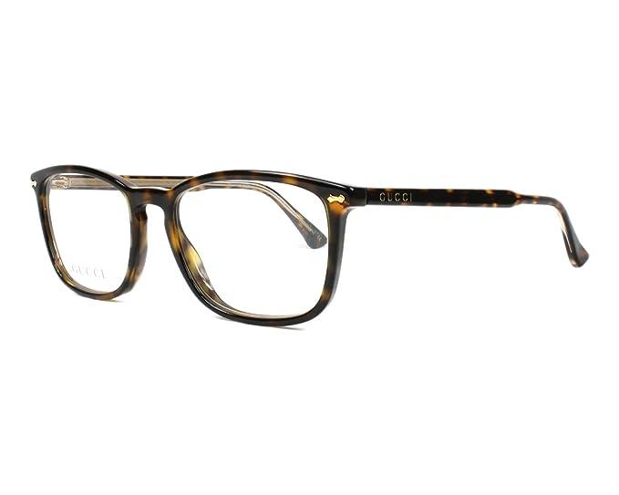 833fc8d86f Gucci - Montura de gafas - para hombre Marrón dunkel havana - kristall  kristall 53: Amazon.es: Ropa y accesorios