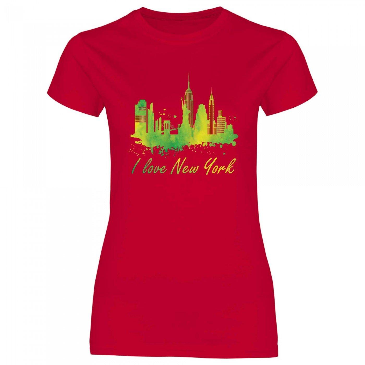 Royal Shirt rs115 Damen T-Shirt I love Rome mit Fahne Italien Städtetrip Flagge