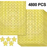 4800 Pieces Golden Star Stickers Metallic Golden