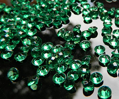 Trimming Shop 4000 Pieces Of Diamond Acrylic Table Scatters Tabletop Confetti Crystals For Wedding Bridal Shower And Birthday Party Decoration Colored Emerald Green