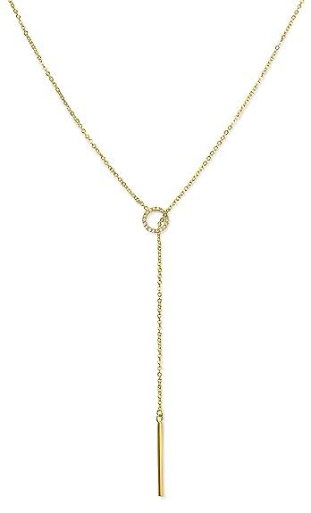 Amazon benevolence la gold necklace lariat drop y vertical bar benevolence la gold necklace lariat drop y vertical bar pendant tiny chic 14k gold diamond aloadofball Gallery