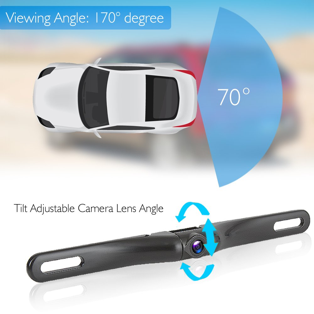 Pyle Rearview Mirror Backup Camera Parking Monitor Wiring Diagram On Time Delay Switch Video Recording Driving System Hd 1080p Image Capture And Waterproof Night Vision Cam