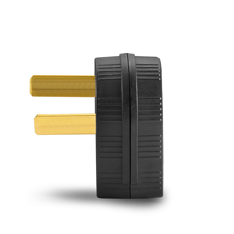 Aweking Nema 10-50P Power Plug Connector,50A 50 Amp,AC 125V 125 Volt,250V 250Volt,2 Pole 3 Wire,Grouding,Generator,Black