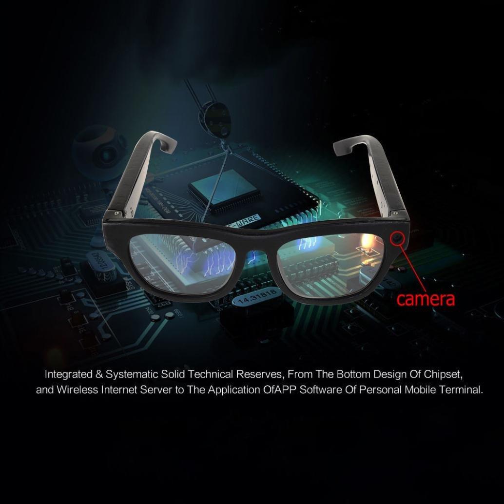 Dreamyth New Smart Live Streaming Glasses FHD 1080P Cap Hidden WIFI Camera Video Glasses Cam by Dreamyth
