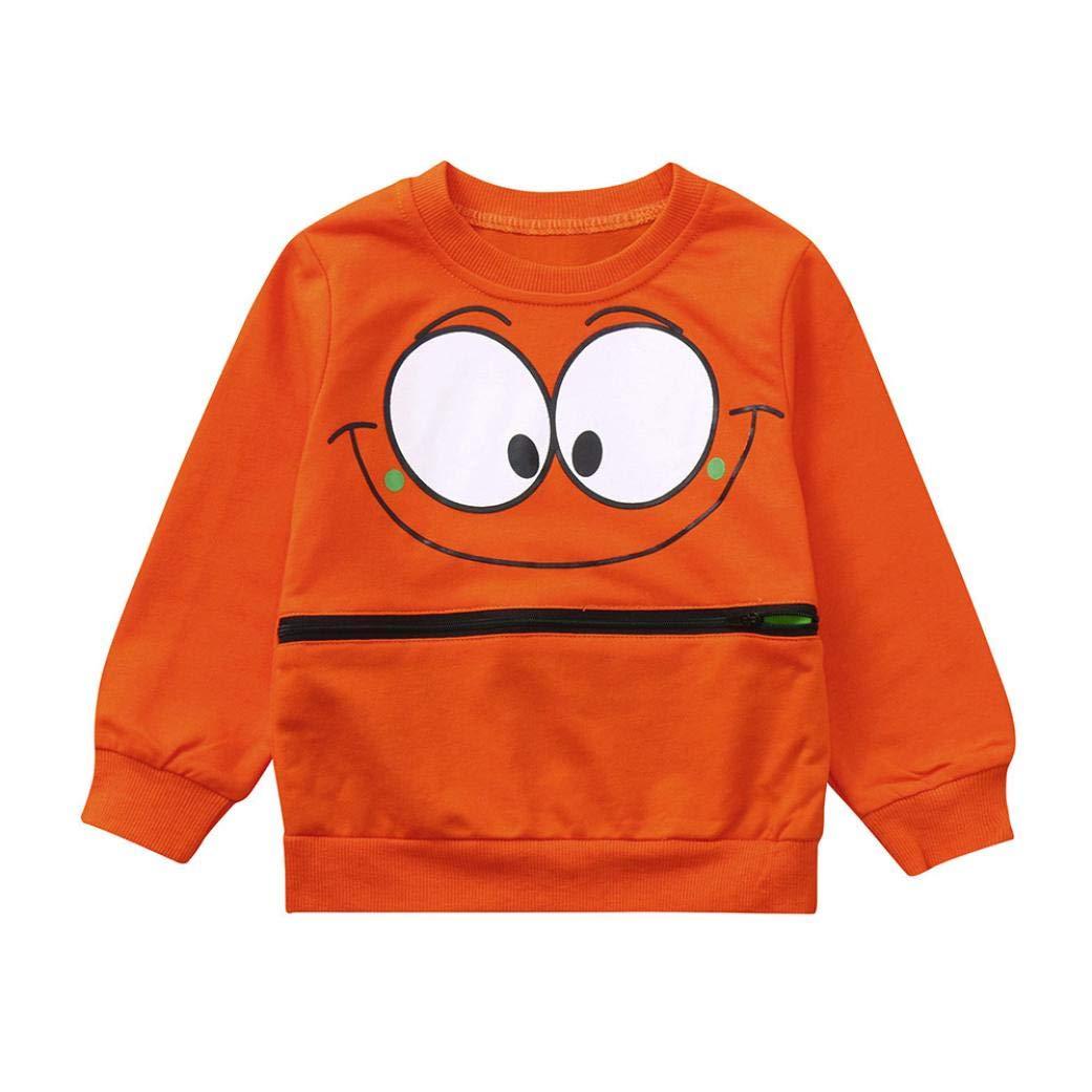 Kinlene Vestiti delle Ragazze dei Bambini della Maglietta dei Bambini dei Bambini del Manicotto degli Occhi del Fumetto della Manica Lunga dei Bambini delle Neonate