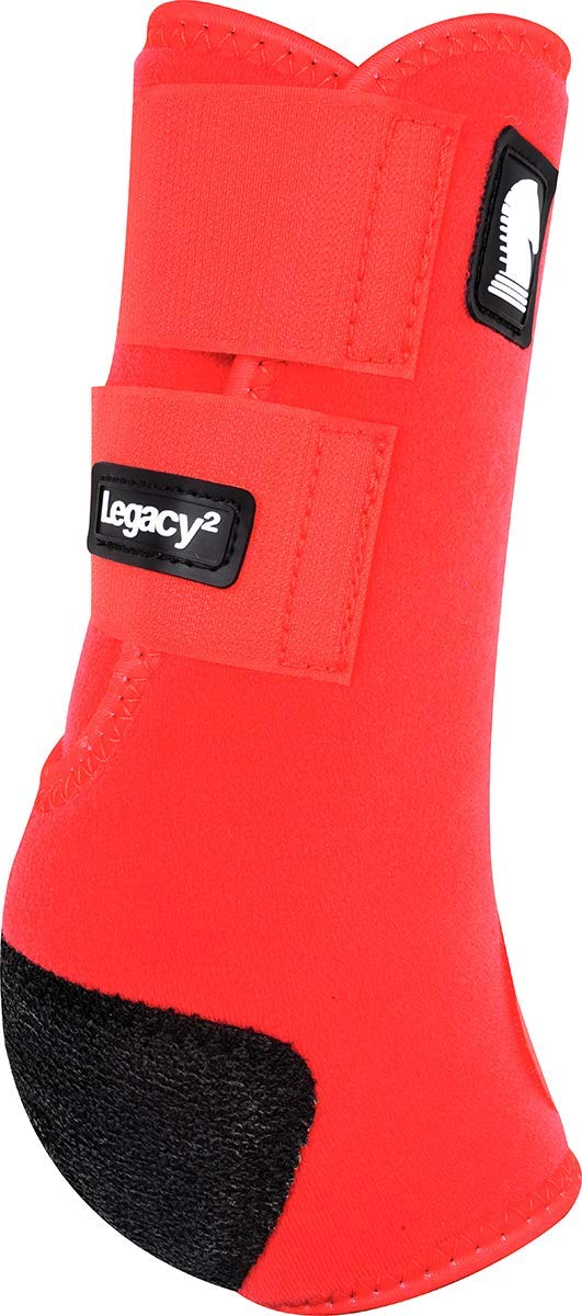 Classic Equine Legacy2 System Hind Boot (Solid), Red, Medium