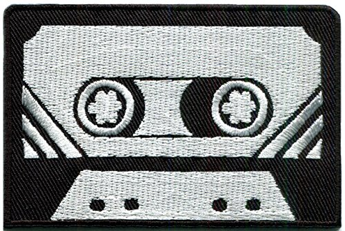 Cassette tape retro seventies eighties music new embroidered applique iron-on - Fashion 70s Inspiration