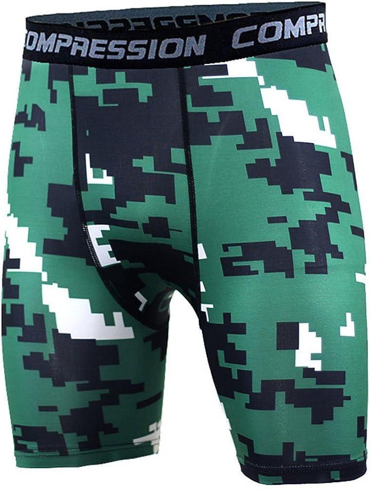 YiJee Uomo Strato Quick Dry Fitness Shorts Compressione Base Collant Shorts