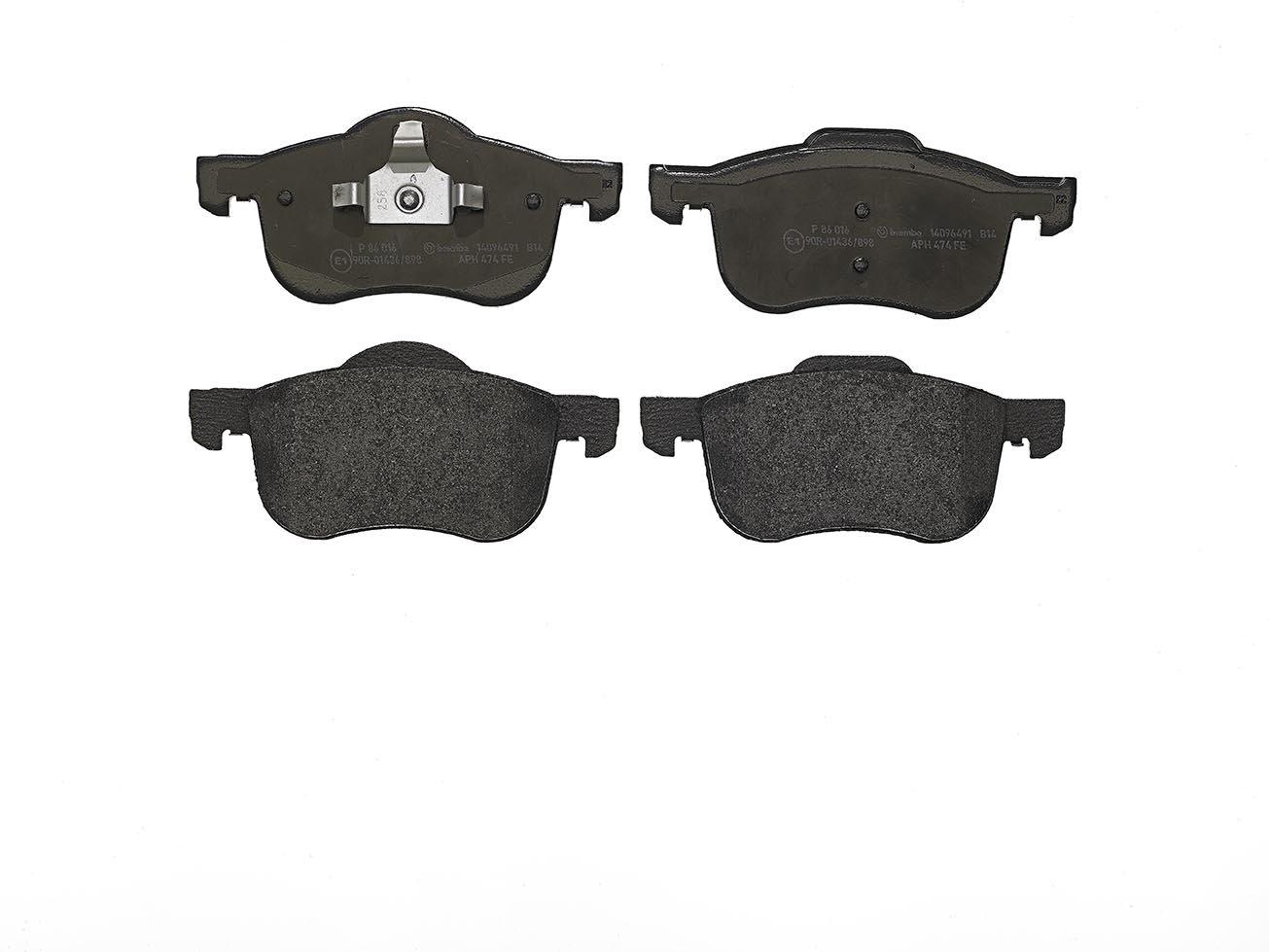 Set of 4 Brembo P86016 Front Disc Brake Pad