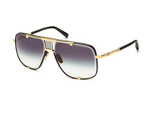 efc64f6602a Sunglasses Dita MACH FIVE DRX 2087 A-BLK-GLD Matte Black-Yellow Gold w Dark  Gre  Amazon.co.uk  Clothing