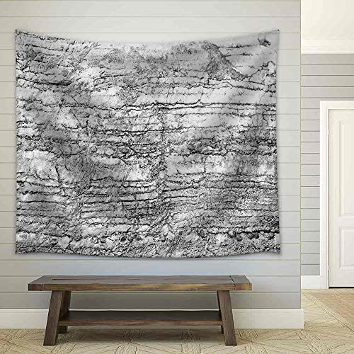 Black and White Cracked Stone Pattern for The Best Texture and Design Artwork Fabric Wall