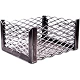 "LavaLock Charcoal Basket 10 x 10 x 6 "" - Vertical Horizontal offset BBQ smoker coal (firebox)"