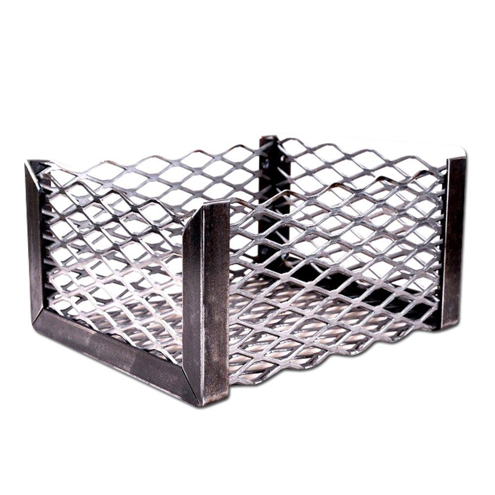 LavaLock Charcoal Basket 10 x 10 x 6 '' - Vertical Horizontal offset BBQ smoker coal (firebox)