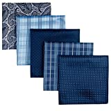 Retreez 5 Piece Assorted Woven Microfiber Premium Pocket Square Gift Box Set - Set 001