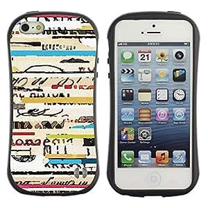 Paccase / Suave TPU GEL Caso Carcasa de Protección Funda para - text ticket travel concert cool lines - Apple Iphone 5 / 5S