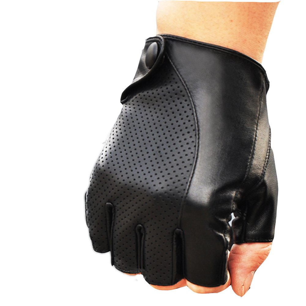 2018 NEW MENS PERFORATED WRIST SHEEPSKIN GENUINE LEATHER GLOVE DRIVING DAILY GLOVE