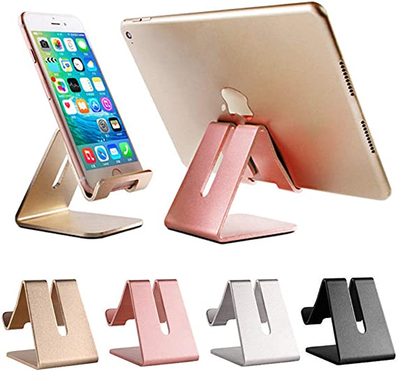 Samsung Used for Desk Table Rose Gold Holder Compatible with Android Smartphones Cell Phone Stand Night Stand Phone XS Max XR X 6 6s 7 8 Plus 5 5s 5c Lamicall Phone Cradle : Phone Dock