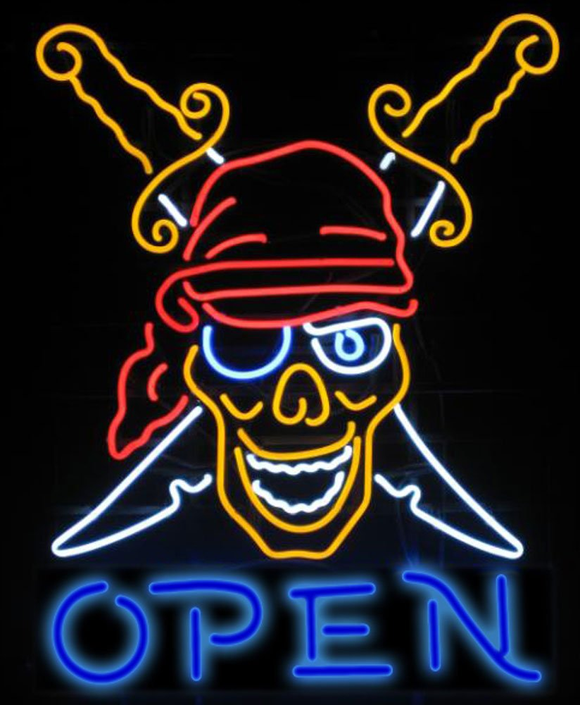 Cozyle Glass Bright Neon Light Tattoo Open Neon Sign 17''x14'' Real for Tattoo Open Piercing