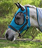 Professional's Choice SMALL/COB TURQUOISE Comfort Fit Lycra Fly Mask Mesh Ears