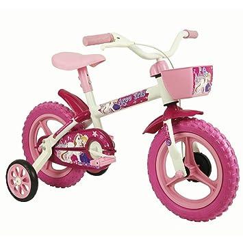 284c6d182 Bicicleta Infantil Aro 12 Track Bikes Arco Íris Rosa Branco  Amazon ...