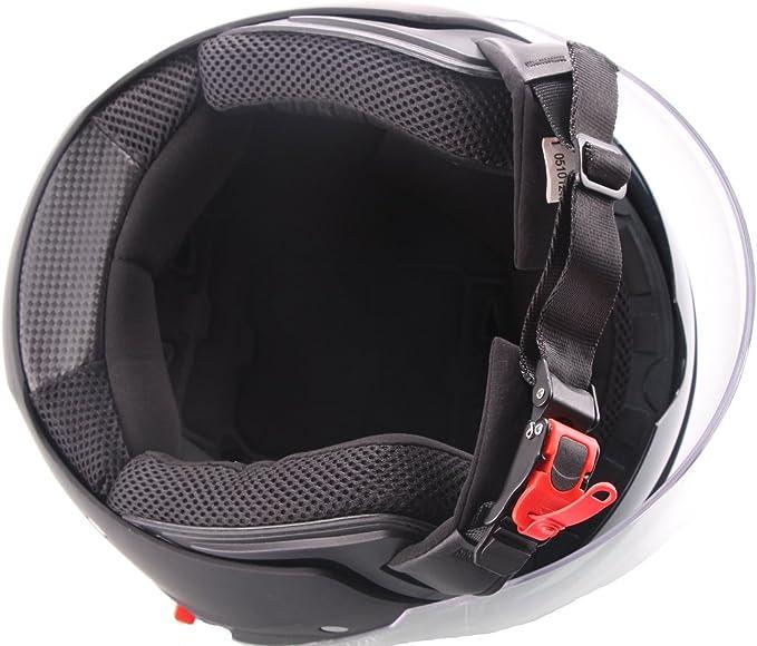 Jethelm Helm Motorradhelm Rollerhelm Mit Sonnenvisier Rallox 702b Matt Schwarz Größe Xl Elektronik