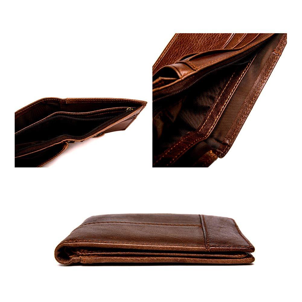 MooseLand/™ Mens Leather Trifold RFID Blocking Wallet JW/&J Based in Toronto