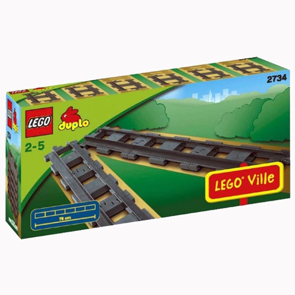 Lego Duplo Legoville - Straight Tracks - 6 Pieces 2734