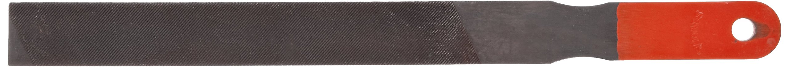 Simonds Hand File, American Pattern, Single/Double Cut, Rectangular, Black Oxide Coating, Coarse, 10'' Length, 31/32'' Width, 3/16'' Thickness