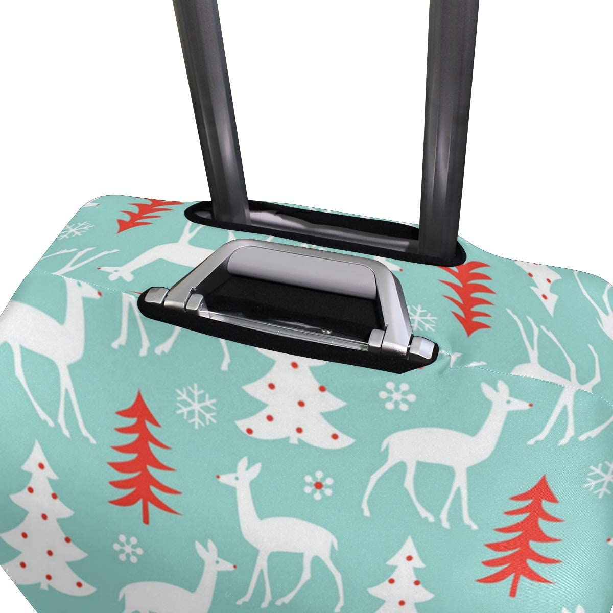 Reindeer Blue Snow Travel Luggage Protector Case Suitcase Protector For Man/&Woman Fits 18-32 Inch Luggage