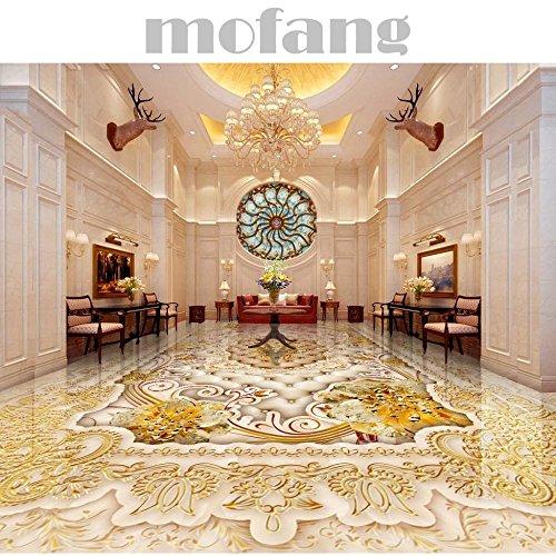 ZLJTYN 270cmX180cm 3D Floor Wallpaper European-style Luxury Modern Gold 3D Wallpaper For Ceiling Custom Size Wallpaper by ZLJTYN (Image #1)'