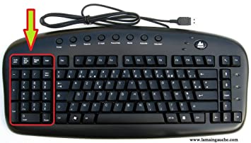 Teclado de ordenador AZERTY para zurdos