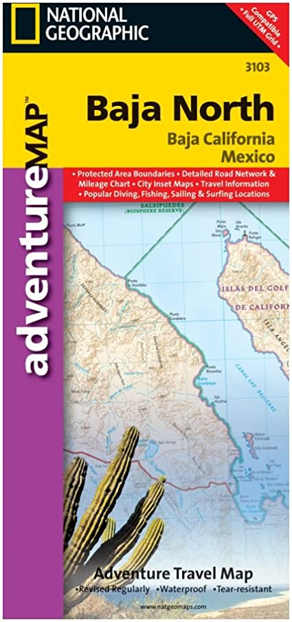 Amazon Com National Geographic Maps Baja California North Mexico