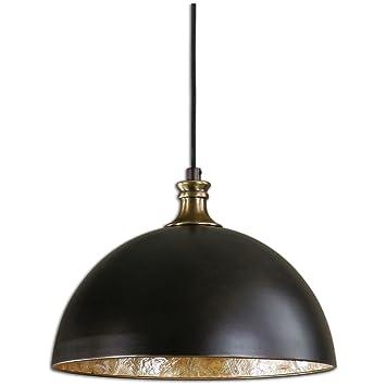 Amazon uttermost 22028 placuna 1 light pendant bronze home uttermost 22028 placuna 1 light pendant bronze mozeypictures Image collections