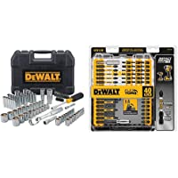 $59 » DEWALT Mechanics Tool Set, 84-Piece (DWMT81531) & Screwdriver Bit Set, Impact…