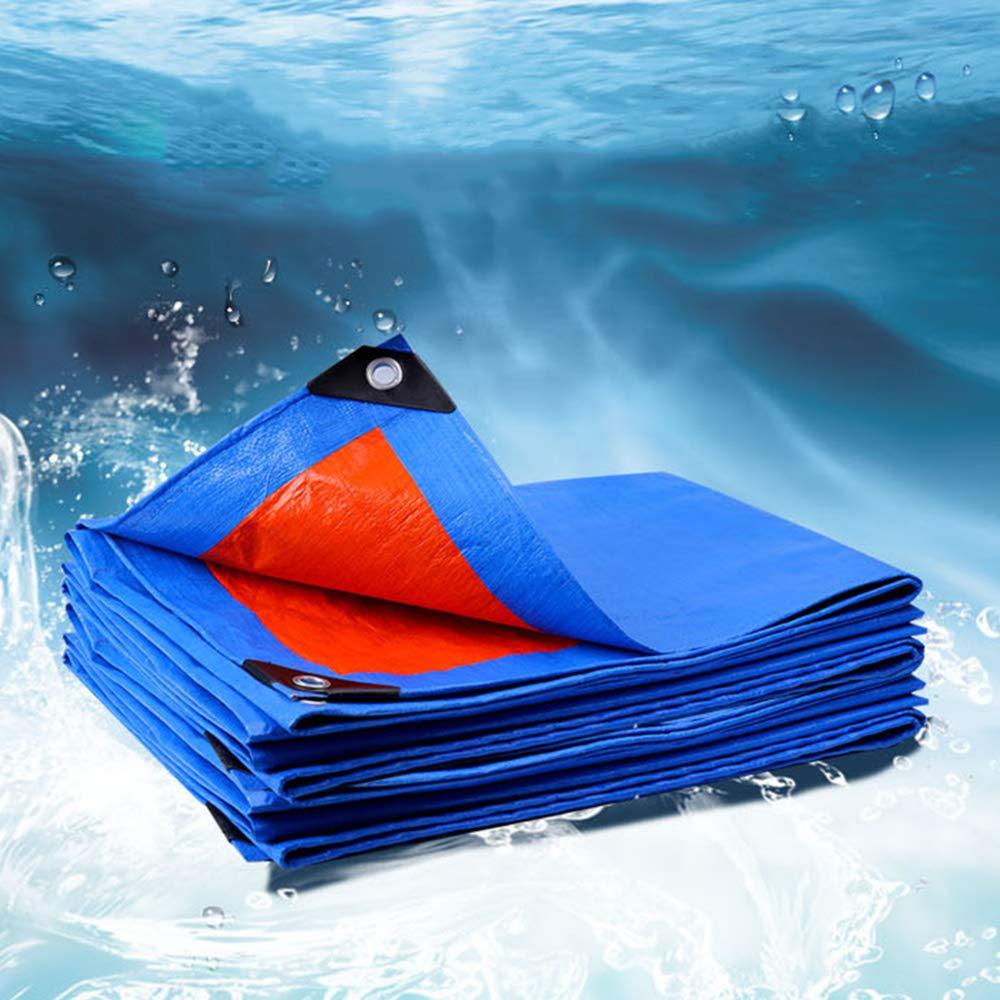 GXH- PE防水プラスチック防水シート、ウィンドウ防風と防雨、屋外の車の家具のダストカバー、温室のテントの絶縁 4mx8m  B07PZW4HP8