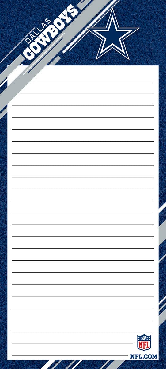 Turner Sports Dallas Cowboys 1 Pack List Pad (8128102)