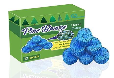 12pk Bathroom Urinal Cake Toss Block Blue Deodorizer Para Free w// Cherry Scent