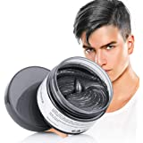 Black Hair Dye Wash Out Hair Color Hair Color Wax Temporary Hairstyle Wax for Men and Women