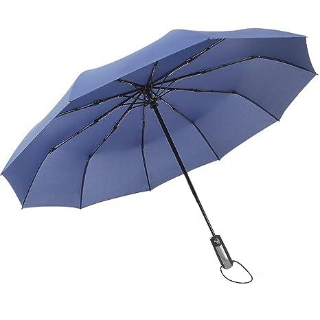 Paraguas Plegable Automático Paraguas Compacto de Viaje con Apertura y Cierre Automático Tejido de Teflón 210T