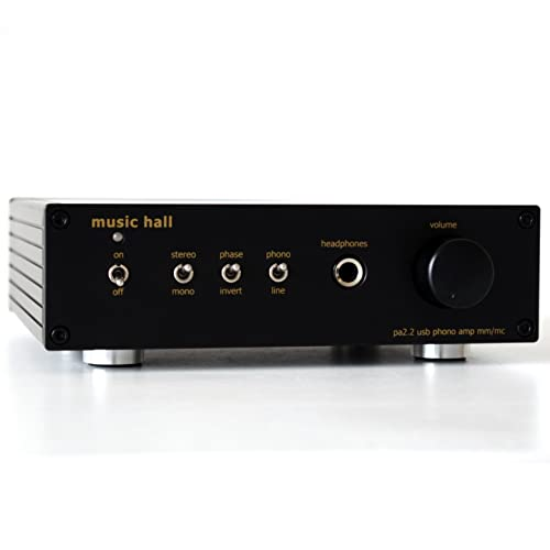 Music Hall pa2.2 MM MC Phono Preamplifier with Analog to Digital Converter