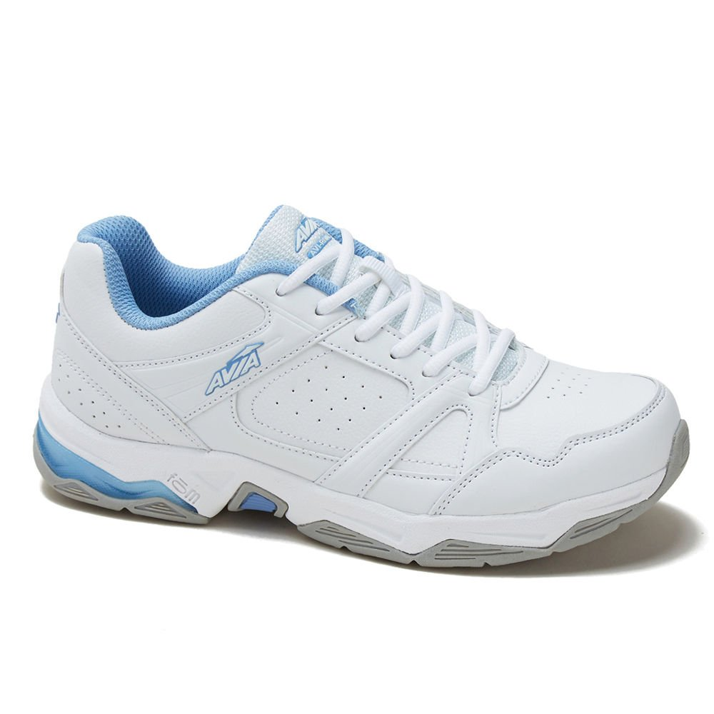 Avia Women's Avi-Rival Cross Training Shoe,White/Powder Blue,US 6 W