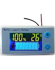 Multifunktionaler LCD Leistungsmesser für Bleisäurebatterien, Spannungsmesser mit Temperaturanzeige, Batterieanzeige, Spannungsanzeige