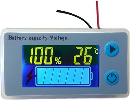 Cptdcl Multifunktionaler Batteriekapazitätsmonitor 10 100 V Programmierbarer Batteriestand Spannungs Temperaturmesser 12v Auto