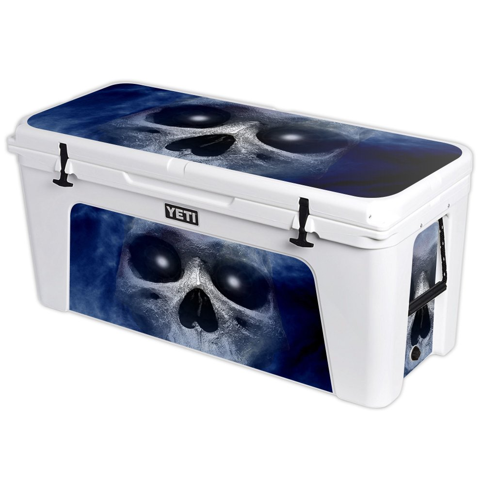 MightySkins Protective Vinyl Skin Decal for YETI Tundra 160 qt Cooler wrap Cover Sticker Skins Haunted Skull by MightySkins (Image #1)