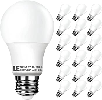 18-Pk. LE A19 E26 LED Light Bulbs